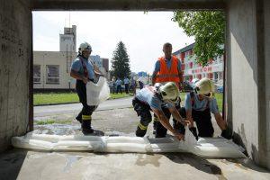 Testovanie protipovodňových vriec