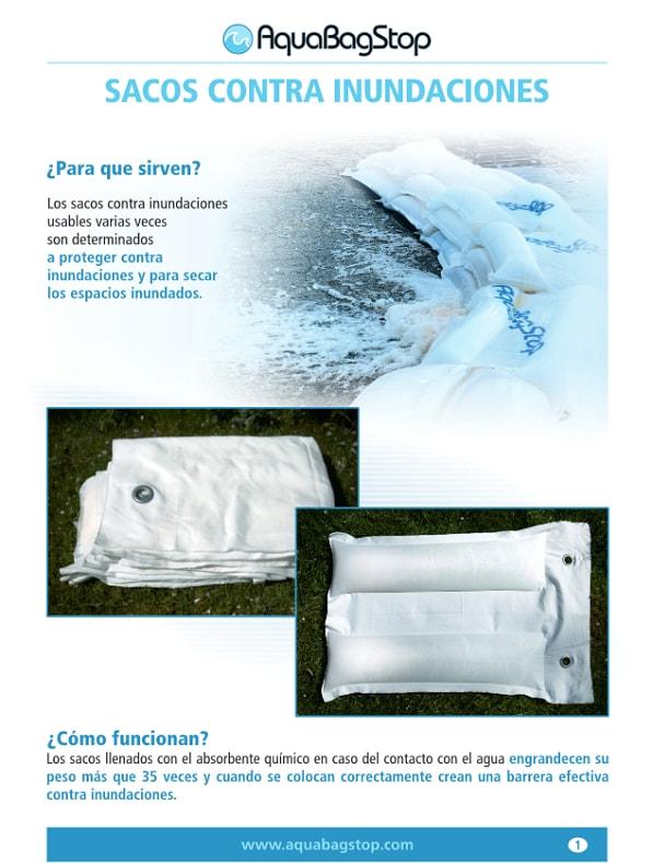 Folleto de producto AquaBagStop